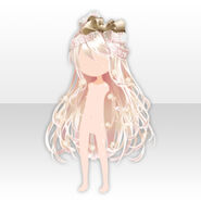 (Hairstyle) Big Lace Ribbon Long Hair ver.A pale brown
