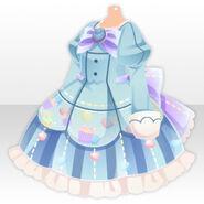 (Tops) Magical Muffin Pattern Dress ver.A blue