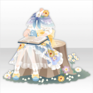 (Tops) Reading on Stump ver.A blue