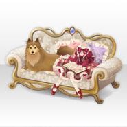 (Tops) Royal Girl Reading Book with Dog Style ver.A red