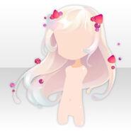 (Hairstyle) Magical Dairy Cream Long Hair ver.A white