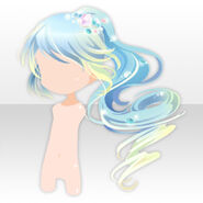 (Hairstyle) Phantom Thief Long Ponytail Hair ver.A blue