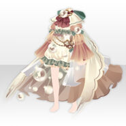 (Tops) Angelic Magical Feather Dress ver.A brown