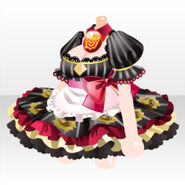 (Tops) Bad Girl Maid One-Piece ver.A red