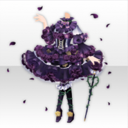 (Tops) Dark Rose Thorn Gothic Dress Style ver.A purple