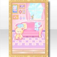 (Wallpaper Profile) Happy Teddy Cute Living Room Wallpaper ver.A pink