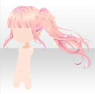 (Hairstyle) Cute Star Carrying Wave Pony Tailed Hair ver.A pink