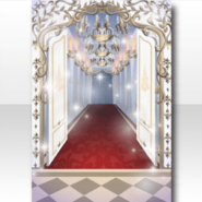 (Wallpaper Profile) Glass Luxury Hallway to Party Wallpaper ver.A white