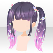 (Hairstyle) Galaxy Girl Twin Tail Hair ver.A purple