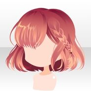 (Hairstyle) Phantom Side Braided Bob Hair ver.A pink