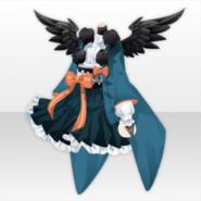 (Tops) Mononoke Yatagarasu Winged Mini Kimono ver.A green