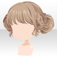 (Hairstyle) Handmaid Braided Up Hair ver.A gold