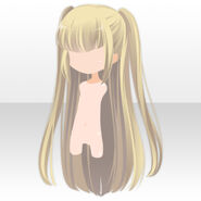 (Hairstyle) Maiden Half Up Twin Hair ver.A yellow