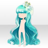 (Hairstyle) Crown & Cygnus Long Hair ver.A green