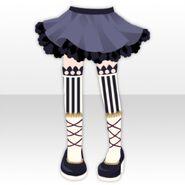 (Pant&Skirt) Circus Girl Socks and Skirt ver.A purple