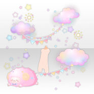 (Avatar Decor) Glittering Night Dress Party with Sheep ver.A pink