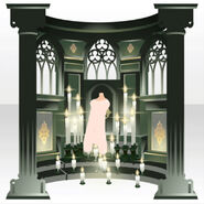(Back Accessories) Prayer Altar ver.A green