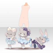 (Body Accessories) Peluche Animal Ballerina ver.A blue