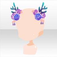 (Head Accessories) Deep-Sea Coral & Rose Head Dress ver,A purple