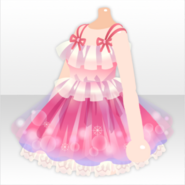 (Tops) Bathtime Nighty One-Piece ver.A pink