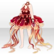(Tops) Red Jellyfish Queen Dress ver.A red