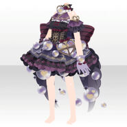 (Tops) Angelic Magical Heart Dress ver.A black