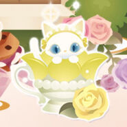 (Characters) Afternoon Tea - Magic Cup Cat Yellow