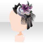 (Head Accessories) La Clarte Lily Lace Hat ver.A black