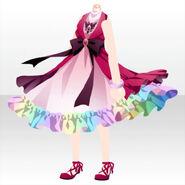(Tops) Sky Dragon Ribbon Dress ver.A red