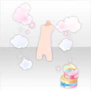(Avatar Decor) Fluffy Steam and Body Cream ver.A white