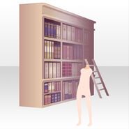 (Back Accessories) Bookshelf in Mysterious Library ver.A pink
