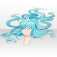 (Hairstyle) Moving Long Hair in Deep Sea ver.A blue