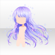 (Hairstyle) Night Dress Party Waving Constellation Hair ver.A purple