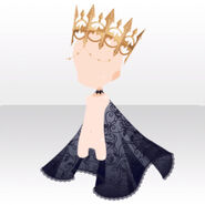 (Head Accessories) Snow White Crown and Lace Cloak ver.A black