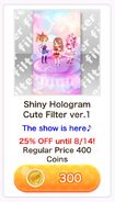 (Shop) CocoPPa Play Summer Festival 2019 Promotion - Shiny Hologram Cute Filter ver.1