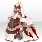 (Tops) Ancient Elegant Dress Style ver.A red