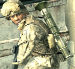 AT4 on the back of Marine CoD4