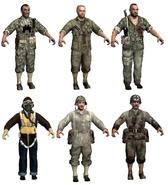 Modelo de los personajes americanos WaW