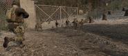 Miembros del SAS yendo hacia la base nuclear