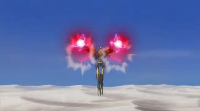 File:The Shinkiro firing its wrist-mounted Hadron Cannons.jpg
