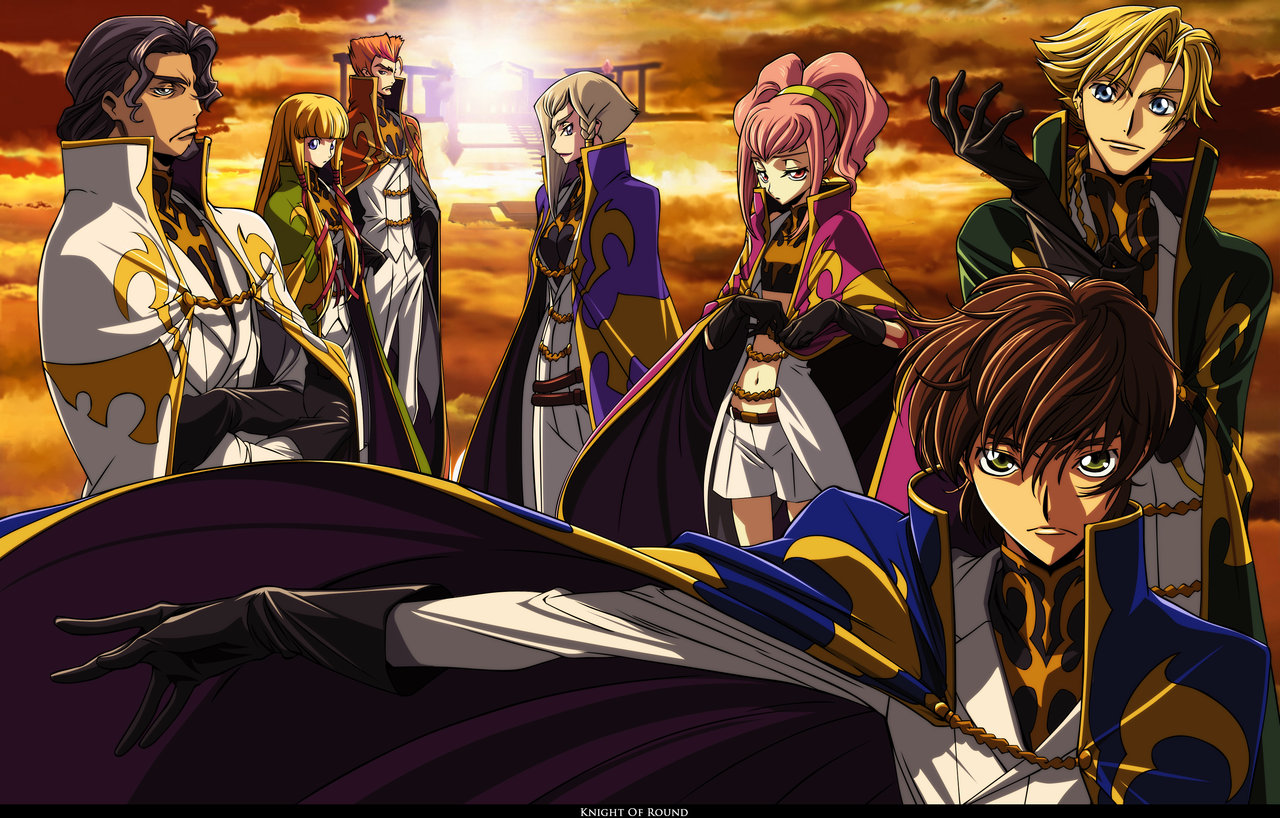 12 Knights Of The Round Table.Knights Of The Round Code Geass Wiki Fandom Powered By Wikia