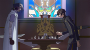 Mao battant Lelouch aux échecs Code Geass