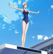 Shirley swimsuit diving formation
