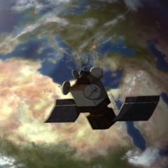 Војни сателит кружи око Земље.