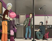 Chris introduces Aelita to Ben and Nico