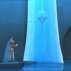 Аелита замрзава медузу.