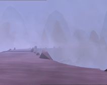 The Mountain Sector covered in thick fog