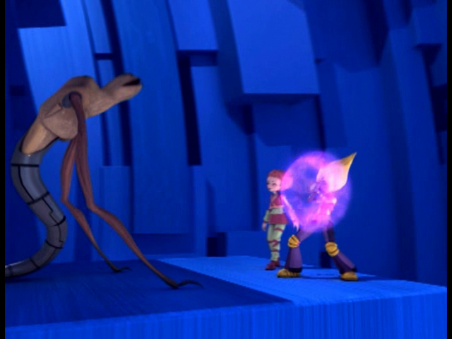 File:A Fine Mess Yumi-Odd uses shield against a Creeper image 1.png