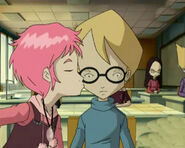 Aelita bacia Jeremy