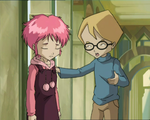 The Key - Jeremie comforting Aelita-1